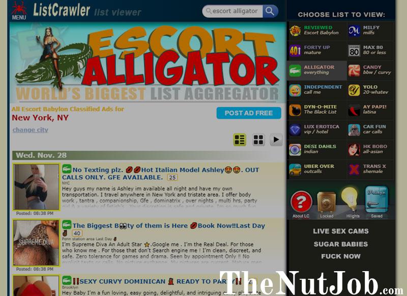 Screenshot of Listcrawler