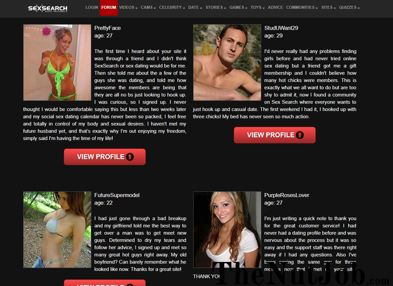 profiles on sex search