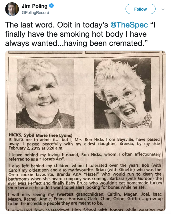 Smoking Hot Body Obituary