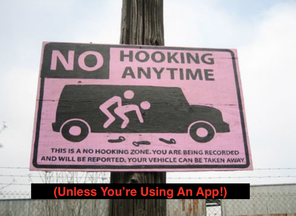 hook up prohibited sign