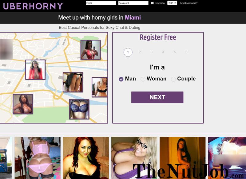 uberhorny app homepage