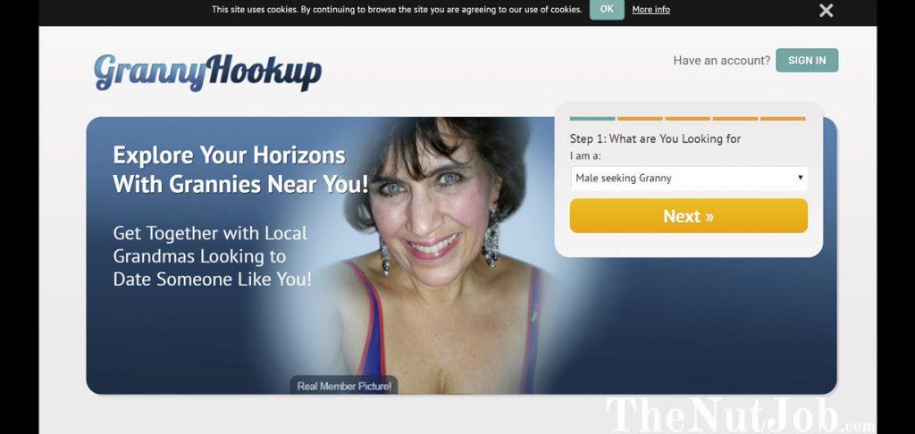GrannyHookup Site Homepage