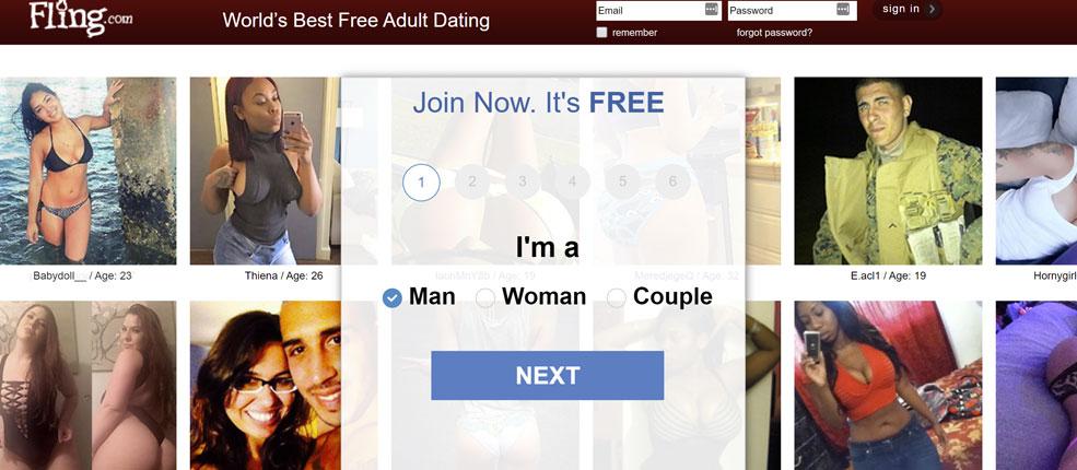 fling.com homepage