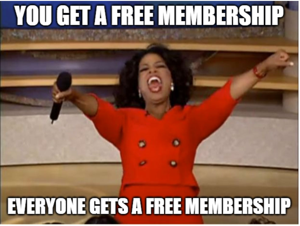 free hookup membership from Oprah